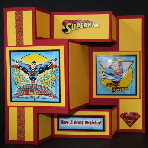 Superman Shutter Birthday Card