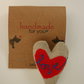 Textile Brooch - Heart 1