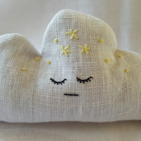 Sleepy Cloud embroidered lavender bag