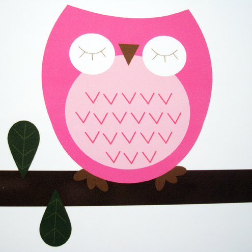 Sleepy owl - set of 6 postcards