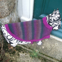 Medium knitted dog coat