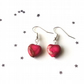 Sea sediment jasper heart earrings - sterling silver earrings - 5 earring option