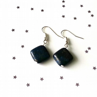 Lapis lazuli earrings - sterling silver earrings - 5 earring options
