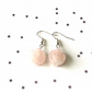 Rose quartz flower earrings - sterling silver earrings - 5 earring options