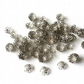 Antique silver bead caps - jewellery supplies - bead caps