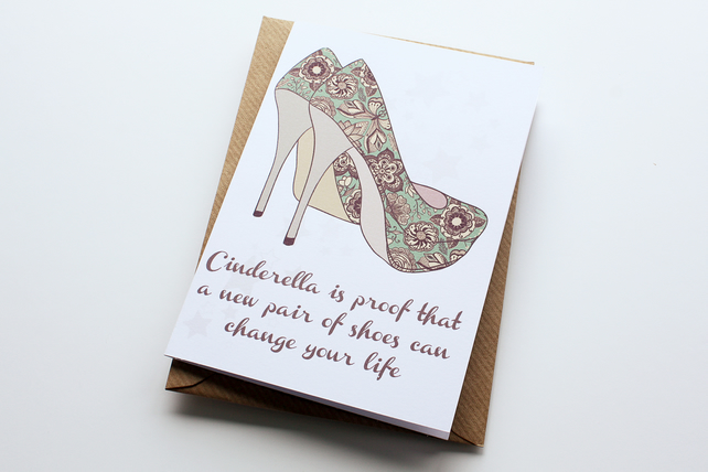 Birthday Card A New Pair Of Shoes Folksy
