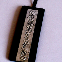 Bookmark Pewter Embossed Motif