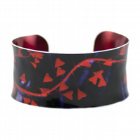 Heart of Grass Anticlastic Aluminium Cuff Bracelet