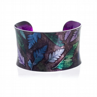 """Cool Mini Ferns"" Anticlastic Aluminium Cuff Bracelet"