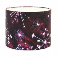 """Burgundy Cow Parsley"" 30cm Lampshade"