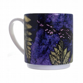 """Plum Fern"" Stacker Mug"