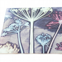 """Friary Meadow"" Set of 4 Glass Coasters"