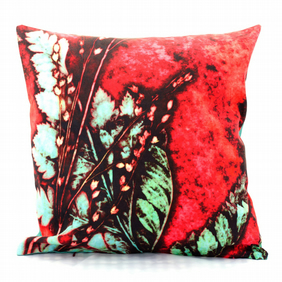 Strawberry Fern Cushion Cover