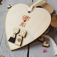 Wedding Day keepsake heart