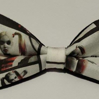 Adjustable Bow Tie made with Harley Quinn fabric