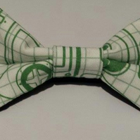 Adjustable Bow Tie made with controller fabric fabric
