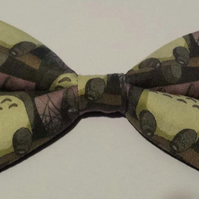 Adjustable Bow Tie made with Totoro fabric