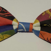 Adjustable Bow Tie made with Game of Thrones fabric
