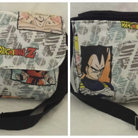 Messenger bag made with Dragon Ball Z fabric