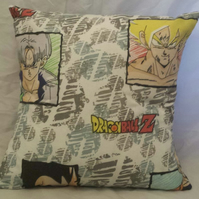 Cushion made with Dragon Ball Z fabric