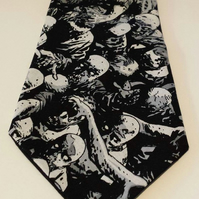 Necktie made from Walking Dead fabric - Zombies