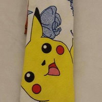 Neck Tie made with Pokemon fabric