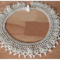 Ivory Pearl Choker Necklace.