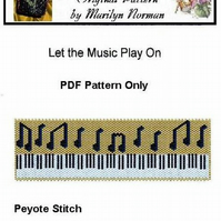 Let the Music Play On - PDF Beadweaving Pattern only