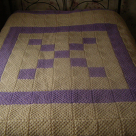 Lilac and Cream Double Bed Throw