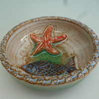 Small shallow ceramic bowl