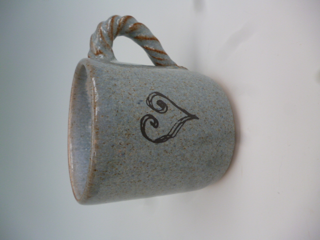Small Coffee Mug - Heart motif