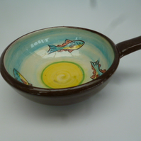 Small ceramic bowl - fish design
