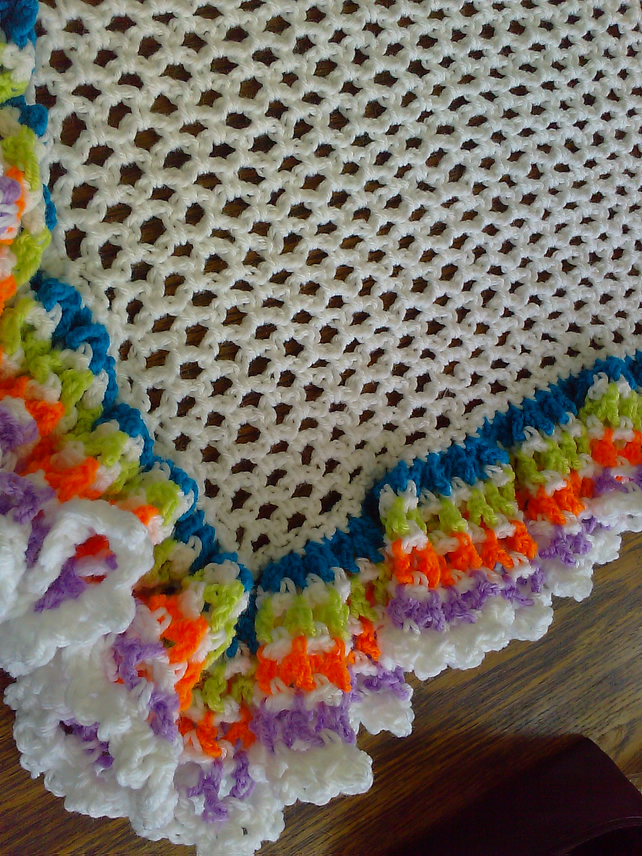 Baby Crochet Blanket and Shawl  Cuddle blanket (nannycheryl original)  775 cjh21