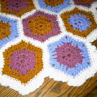 HEXIGAN Crochet Blanket and Shawl  Cuddle by nannycheryl original ID 677 (A)