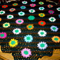 Crochet Blanket and Shawl HEXAGON  Cuddle  (nannycheryloriginal)  638 cjh S1