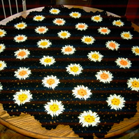 HEXIGAN Crochet Blanket  Shawl  Cuddle blanket (nannycheryl original) 637  cjh9