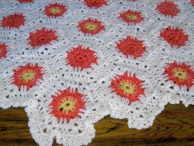 HEXIGAN Crochet Blanket and Shawl  Cuddle (nannycheryl original)664 cjh18