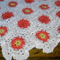 HEXIGAN Crochet Blanket and Shawl  Cuddle (nannycheryl original) ID 664 (C)