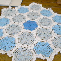 HEXAGON Crochet Blanket and Shawl  Cuddle  by nannycheryloriginals 666 cjh S10