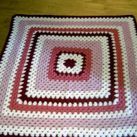 Crochet Blanket  BY nannycheryl original ID 737 (A)  FREE UK DELIVERY