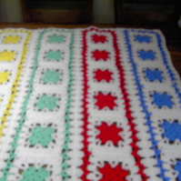 Crochet Blanket   (nannycheryl original) ID 693 (C) FREE UK DELIVERY
