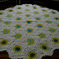 HEXAGON Crochet Blanket and Shawl  Cuddle BY nannycheryl original) 635  cjh18 S3