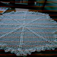 Baby Crochet Blanket and Shawl  Cuddle blanket (nannycheryl original) 715 cjh20