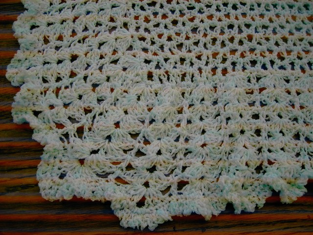 Baby Crochet Blanket and Shawl  Cuddle blanket (nannycheryl original) 683 cjh20
