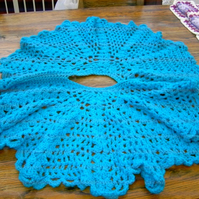 Baby Crochet Blanket and  Poncho  Cuddle  by nannycheryl original   815 cjh S7