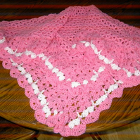 CROCHET SHAWL for Prem Baby or Doll  (nannycheryl original)   679  cjh S9