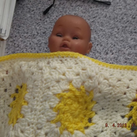 Baby Crochet Blanket and Shawl  Cuddle (nannycheryl original) ID 697 cjh S1