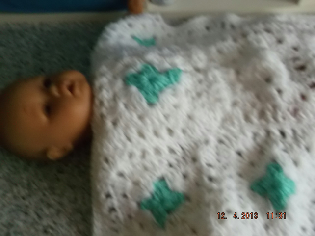 PREM BABY OR DOLL CROCHET BLANKET  ID 764 (B)