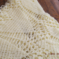 Large Crochet Blanket Hearts Lace Cuddle (nannycheryl original)  718  cjh18