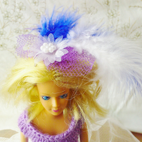 Handmade Barbie ballgown in white and purple  (nannycheryloriginal)  890 cjhk1